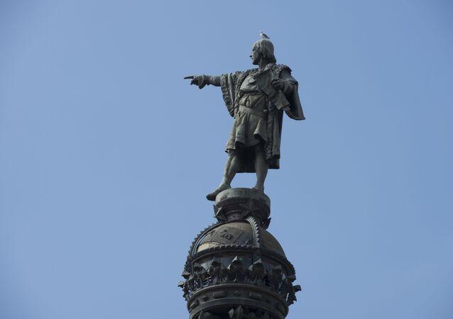 تمثال كريستوف كولومبوس في برشلونة