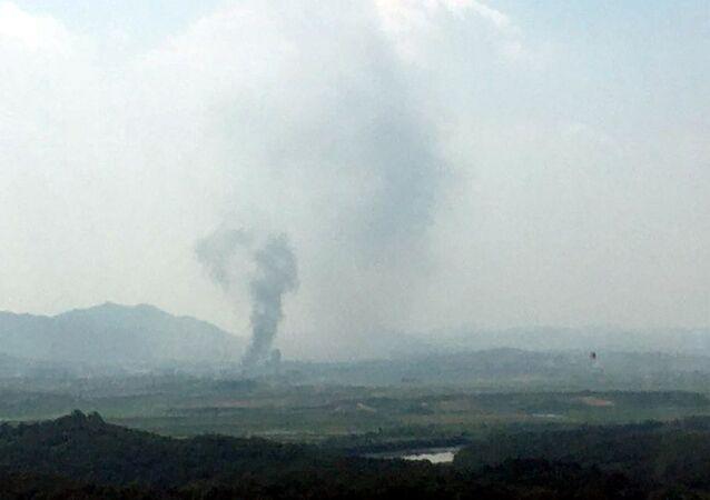 كوريا الشمالية تدمر مكتب الاتصال المشترك مع كوريا الجنوبية في مجمع كيسونغ الصناعي