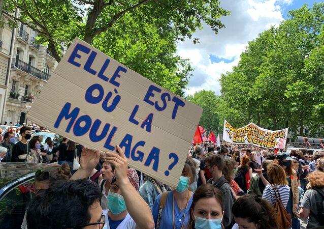 احتجاجات الأطباء ضد تعديل شروط العمل في باريس، فرنسا 16 يونيو 2020