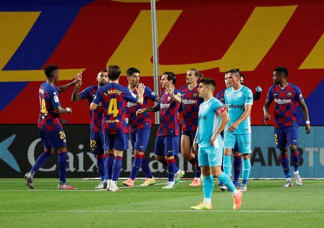 أهداف مباراة برشلونة وليغانيس (2-0) في الدوري الإسباني