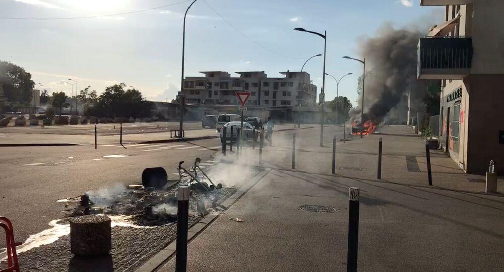 أعمال الشغب في مدينة ديجون الفرنسية