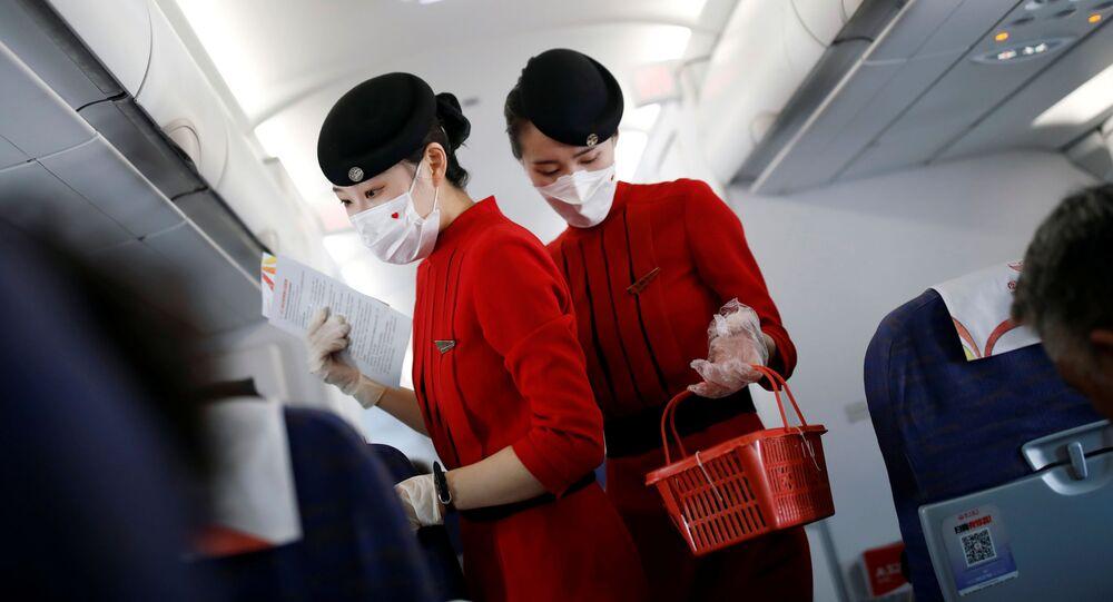 عودة خطوط الطيران الجوية إلى العمل، في إطار تخفيف موجة انتشار كورونا في العالم - شيتشانغ، الصين يونيو 2020