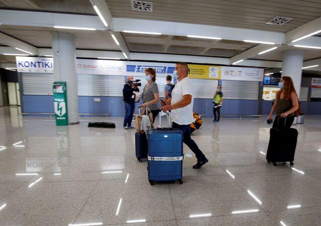 عودة خطوط الطيران الجوية إلى العمل، في إطار تخفيف موجة انتشار كورونا في العالم - بالما دي مايوركا، إسبانيا يونيو 2020