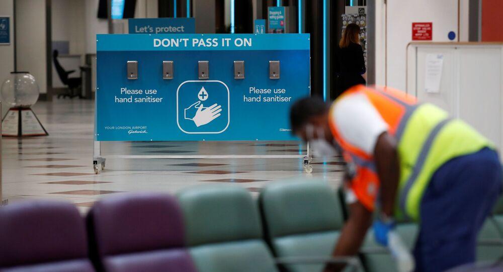 عودة خطوط الطيران الجوية إلى العمل، في إطار تخفيف موجة انتشار كورونا في العالم - غاتويك، بريطانيا يونيو 2020