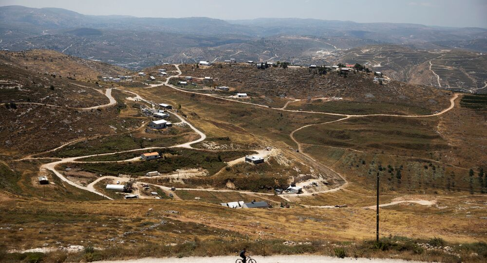مستوطنات الضفة الغربية المحتلة، مستوطنة يتزهار بالقرب من نابلس، 19 يونيو 2020