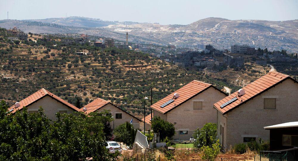 مستوطنات الضفة الغربية المحتلة، مستوطنة إتامار بالقرب من نابلس، 15 يونيو 2020