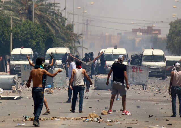 مظاهرات تطاوين في تونس