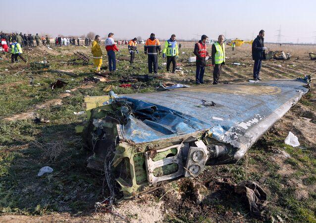 إسقاط طائرة اوكرانية في إيران
