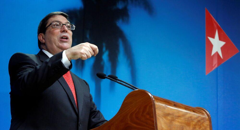 وزير الخارجية الكوبي، برونو رودريغيز باريلا