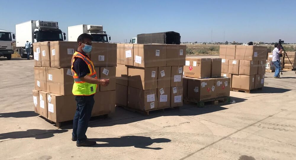 طائرة خاصة إماراتية، تصل ظهر اليوم، إلى مطار بغداد الدولي، محملة 10 أطنان، ونص من المساعدات الطبية، العراق