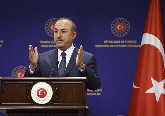 وزير الخارجية التركي، مولود جاويش أوغلو، 19 يونيو 2020