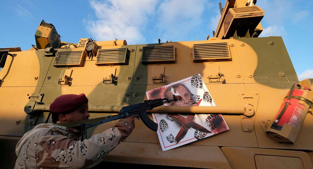 قوات الجيش الوطني الليبي (بقيادة الخليفة حفتر)، بنغازي ليبيا يناير 2020