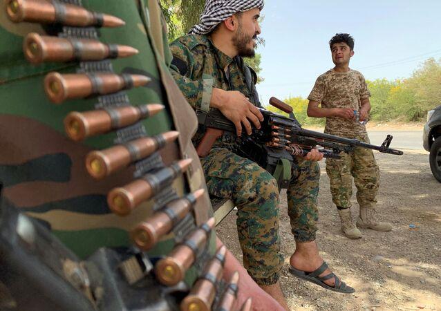 القوات الموالية لحكومة الوفاق الليبية (بقيادة فايز السراج)، طرابلس، ليبيا يونيو 2020