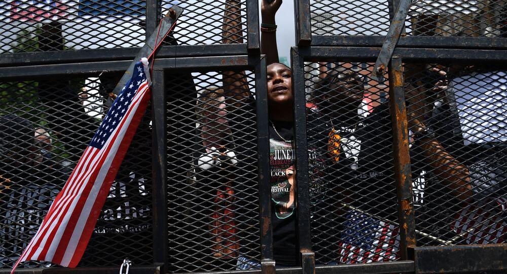 احتجاجات حياة السود تهم (Black Lives Matter) في تولسا، أوكلاهوما، الولايات المتحدة، 20 يونيو 2020