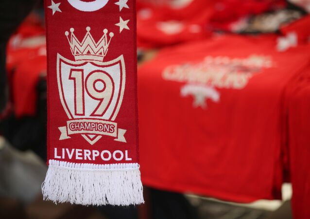 جزء من احتفالات ليفربول بلقب الدوري الإنجليزي