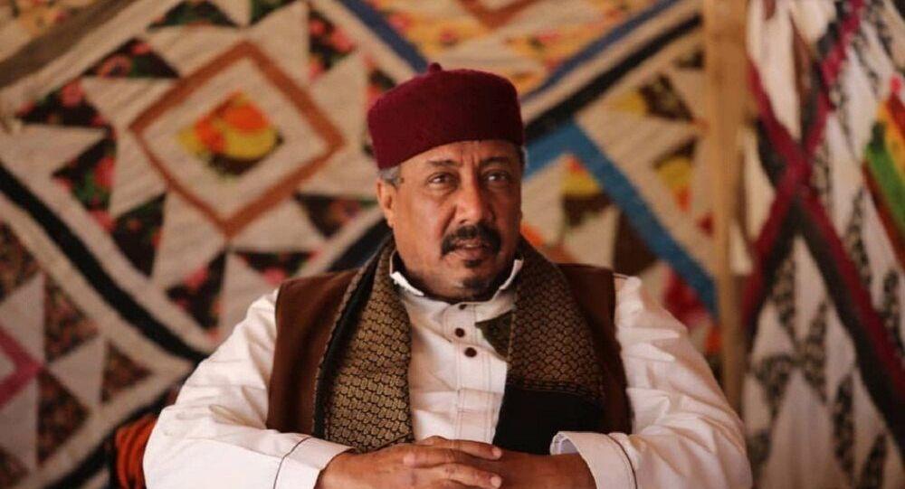 الشيخ السنوسي الحليق رئيس قطاع النفط والغاز بمجلس الأعيان والمشايخ الليبي