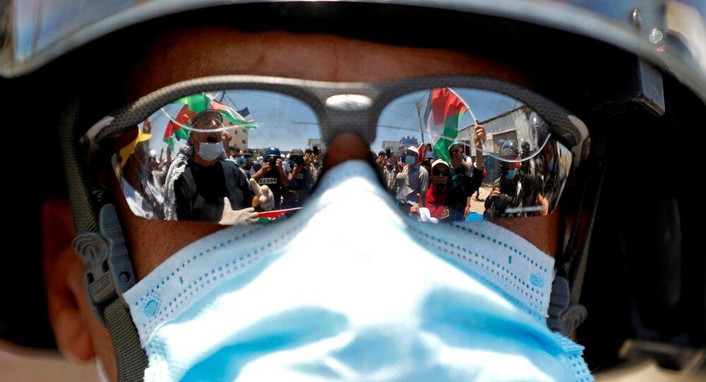 مظاهرات ضد خطة الضم الإسرائيلية، المستوطنات، الضفة الغربية، 26 يونيو 2020