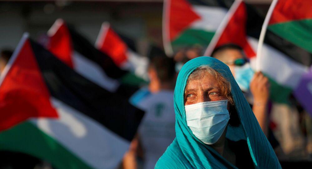 مظاهرات ضد خطة الضم الإسرائيلية، المستوطنات، أريحا، الضفة الغربية، 27 يونيو 2020