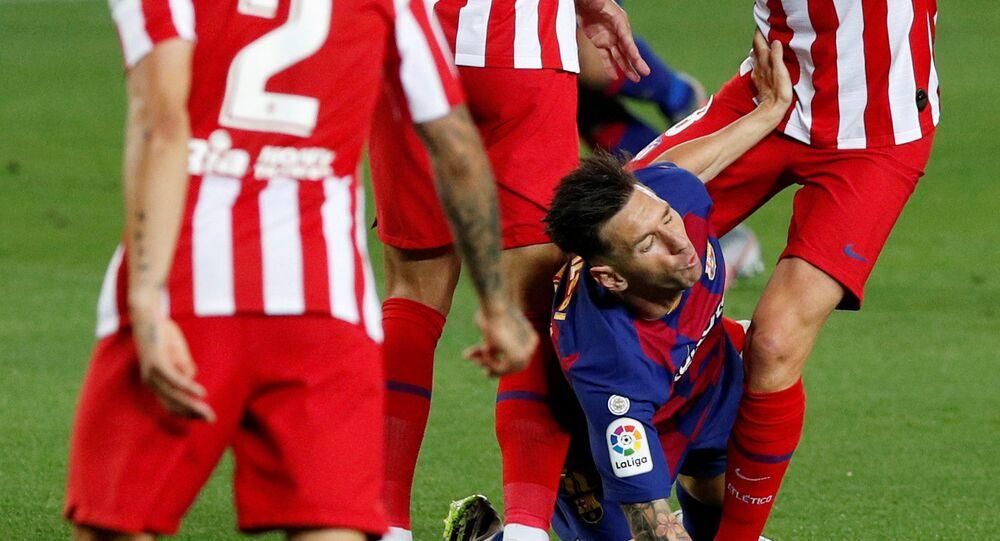 مباراة برشلونة وأتلتيكو مدريد 2-2 في الدوري الإسباني