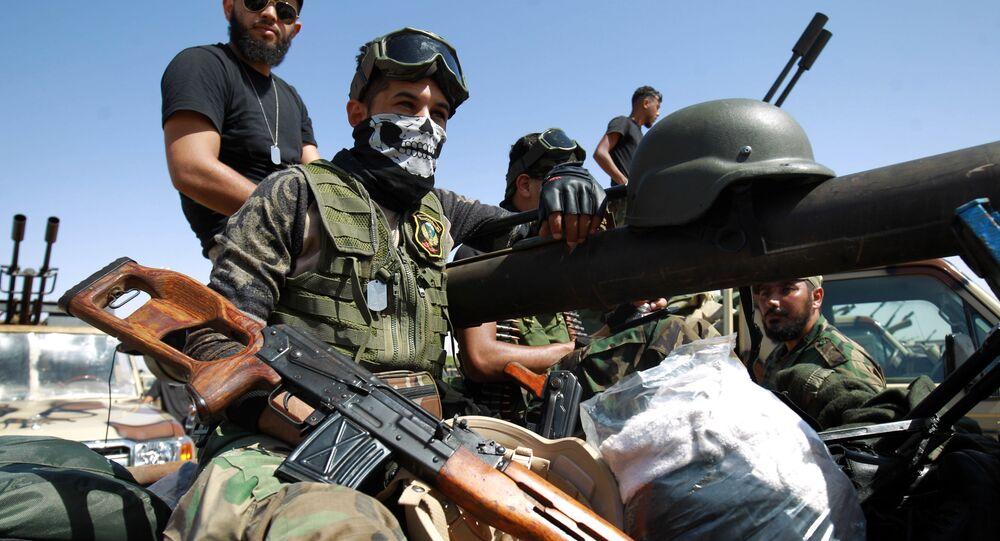 قوات الجيش الوطني الليبي (بقيادة الخليفة حفتر)، بنغازي ليبيا يونيو 2020