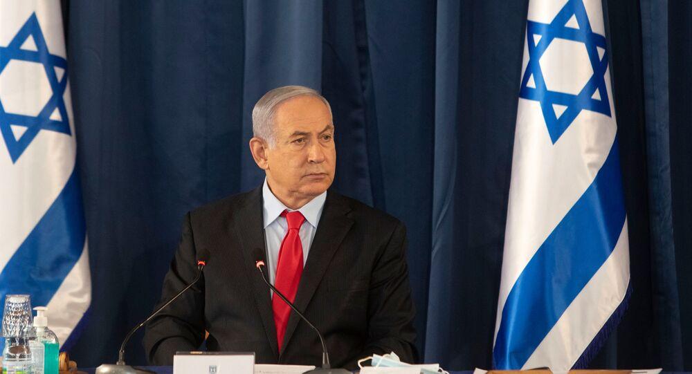 رئيس الوزراء الإسرائيلي بنيامين نتنياهو، وزير الدفاع الإسرائيلي بيني غانتس، المستوطنات، الضفة الغربية، يونيو 2020