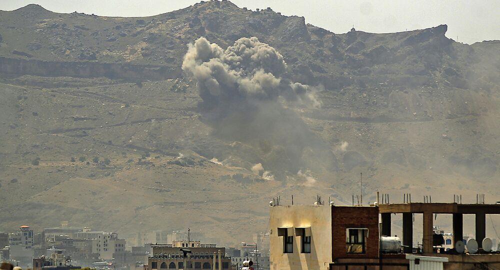 قوات التحالف العربي تشن هجوما على مدينة صنعاء، اليمن 1 يوليو 2020