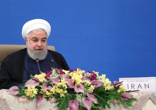 الرئيس الإيراني حسن روحاني،  يونيو 2020