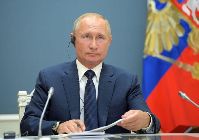 الرئيس الروسي فلاديمير بوتين،  يونيو 2020