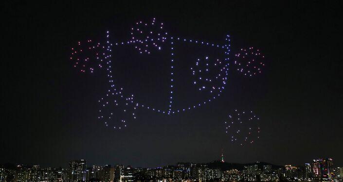 طائرات مسيرة تقدم نصائح للوقاية من كورونا في كوريا الجنوبية