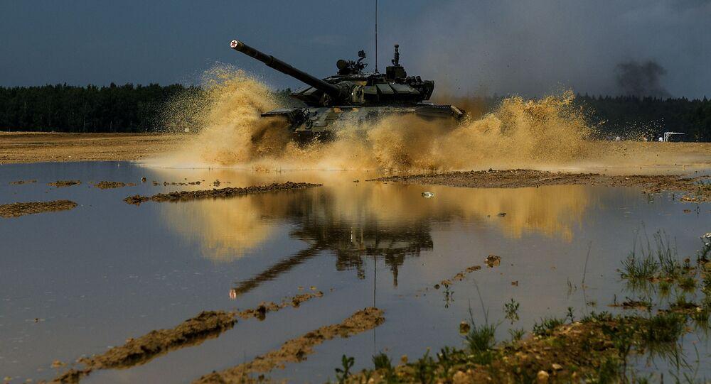 تدريبات الجيش الروسي أحد الحقول العسكرية في ضواحي موسكو، روسيا 8 يوليو 2020